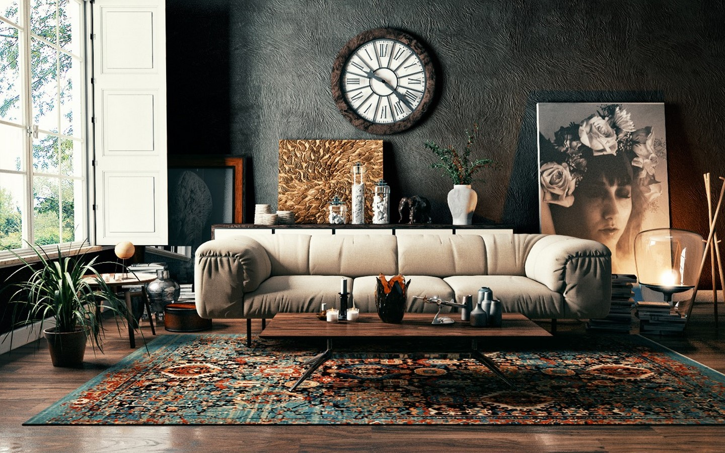 50 Living rooms enhanced by concrete - Sheet10