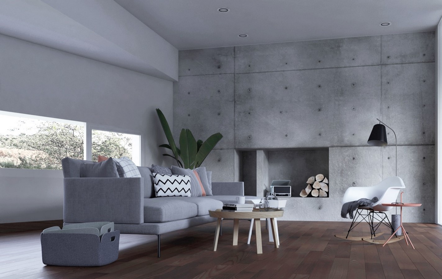 50 Living rooms enhanced by concrete - Sheet11