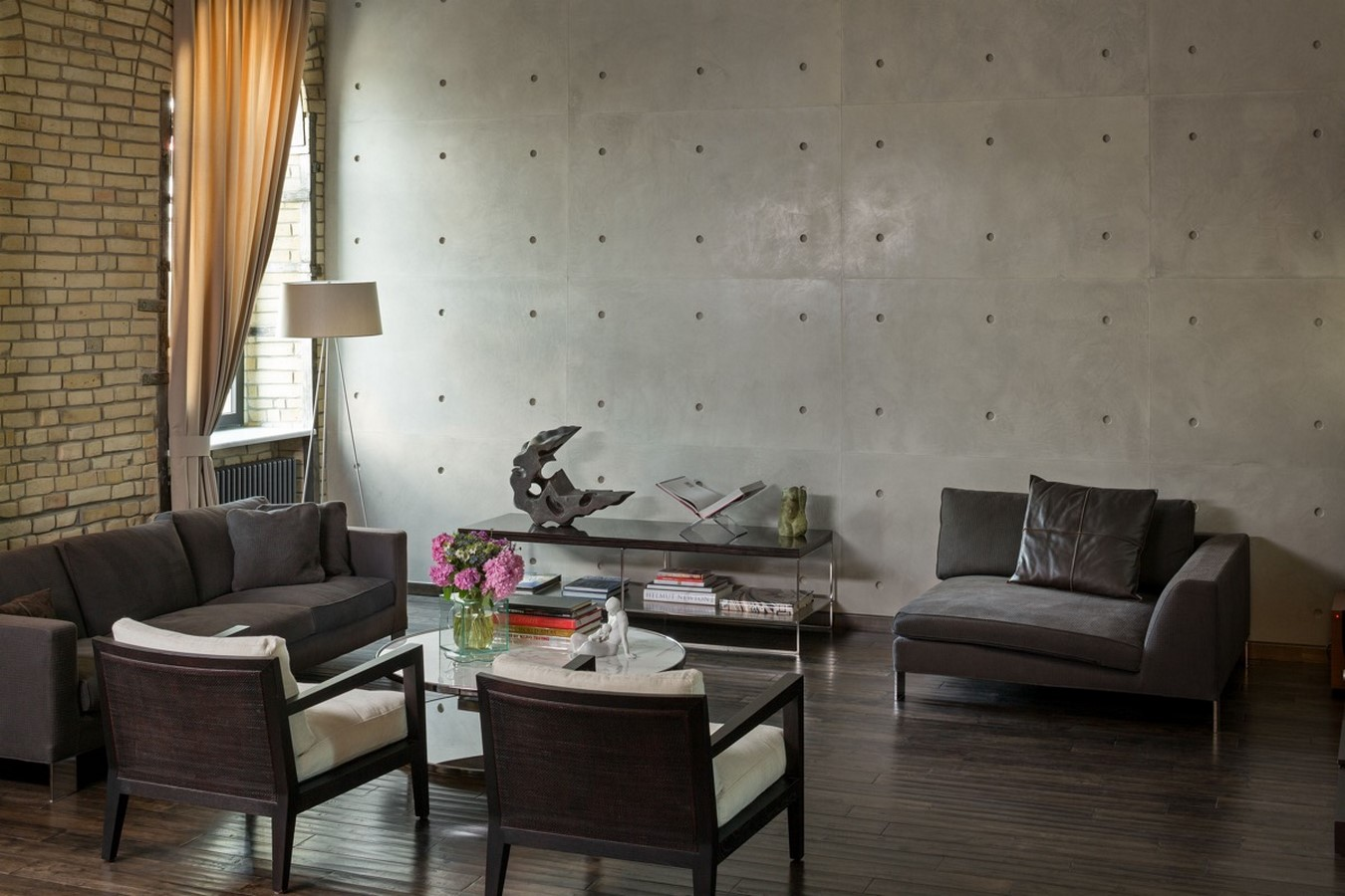 50 Living rooms enhanced by concrete - Sheet12