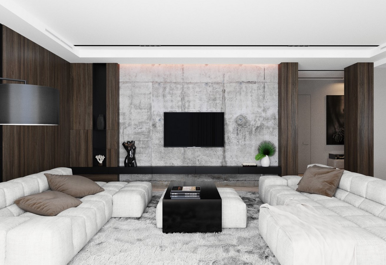 50 Living rooms enhanced by concrete - Sheet13