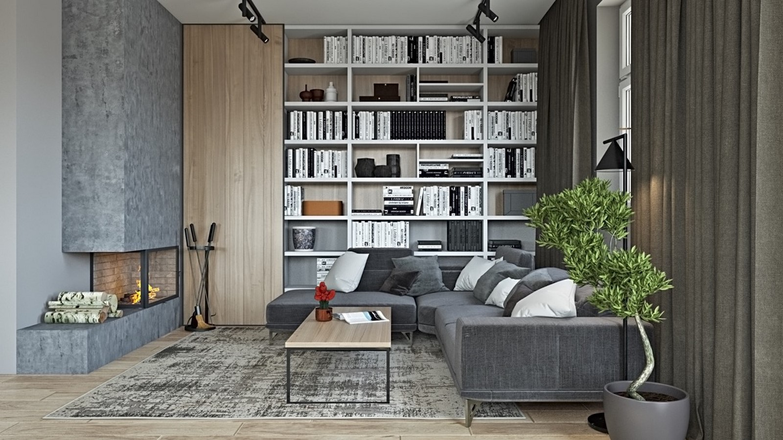 50 Living rooms enhanced by concrete - Sheet14