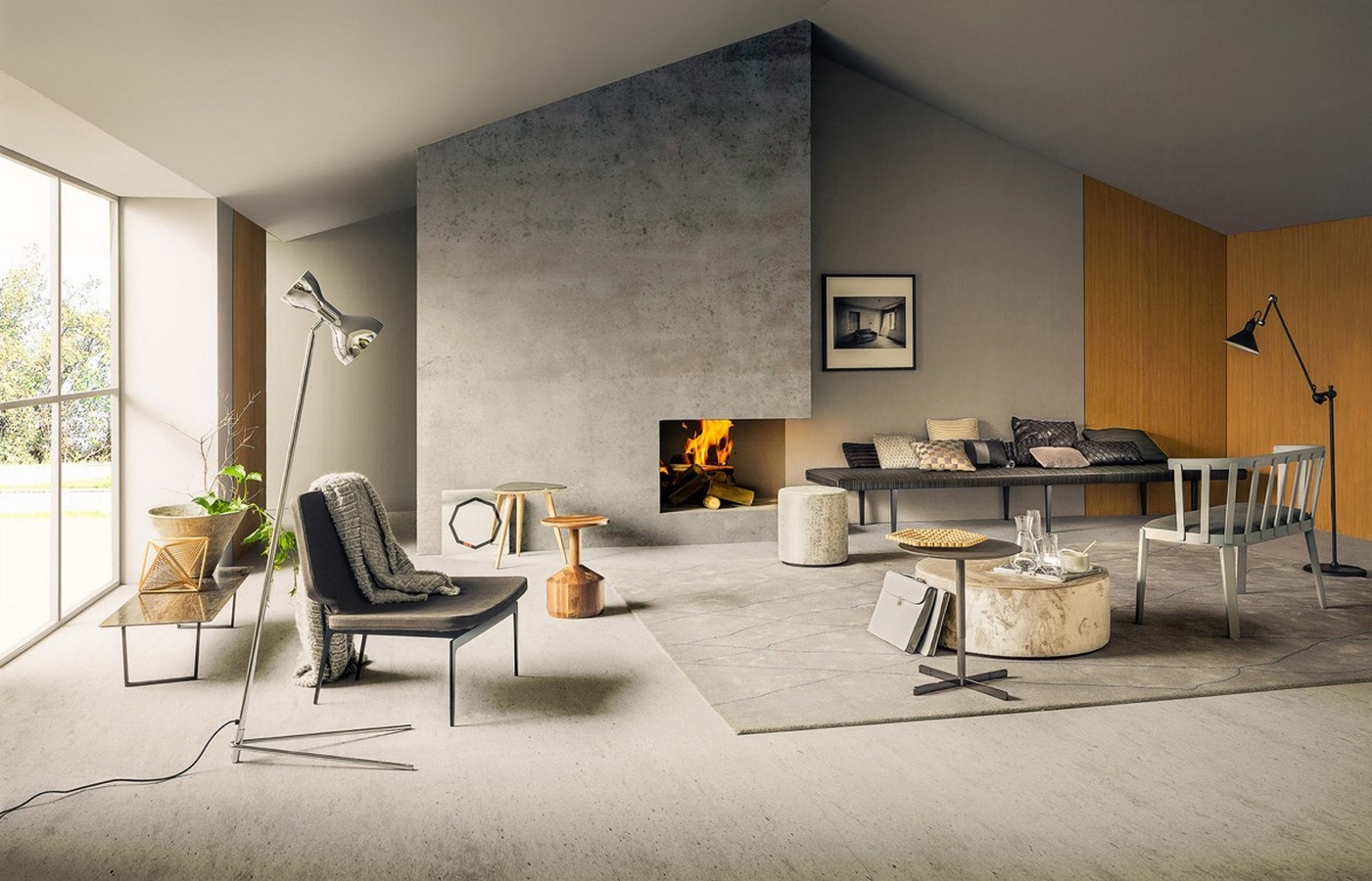 50 Living rooms enhanced by concrete - Sheet17
