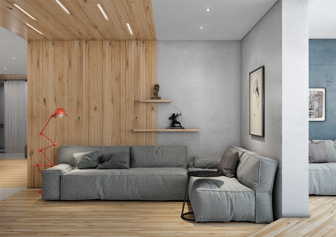 50 Living rooms enhanced by concrete - Sheet18