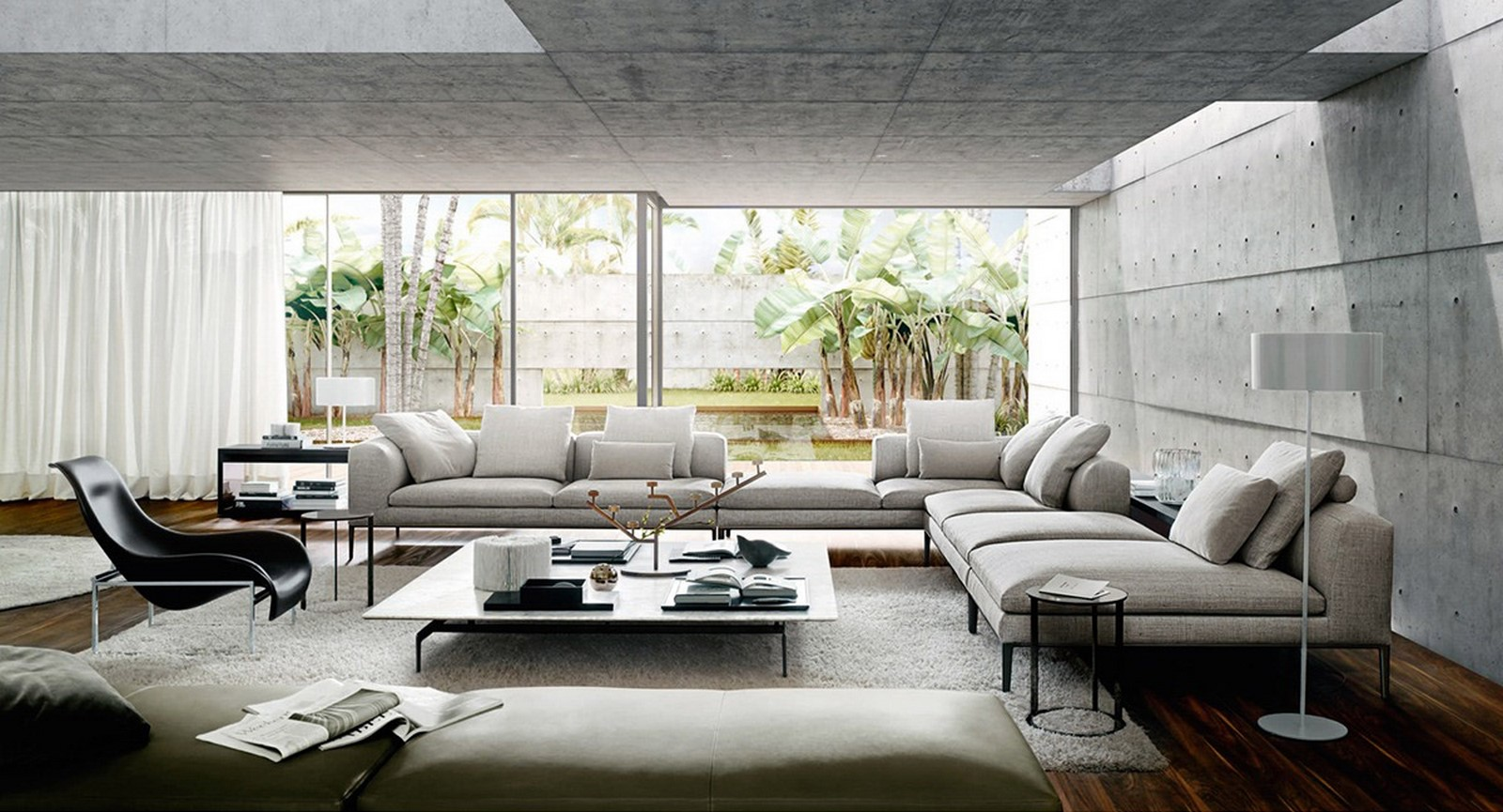 50 Living rooms enhanced by concrete - Sheet2