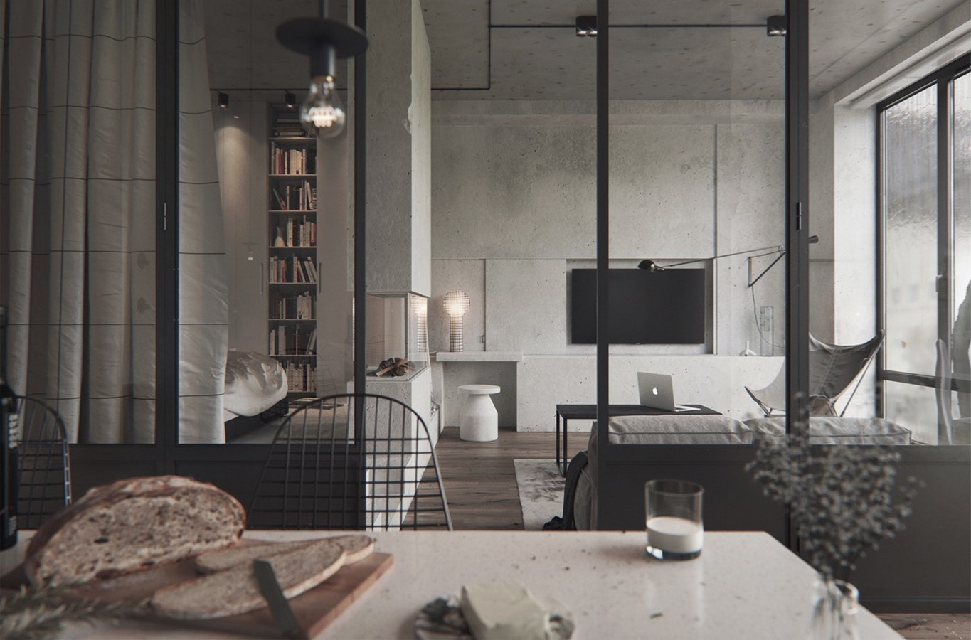 50 Living rooms enhanced by concrete - Sheet20