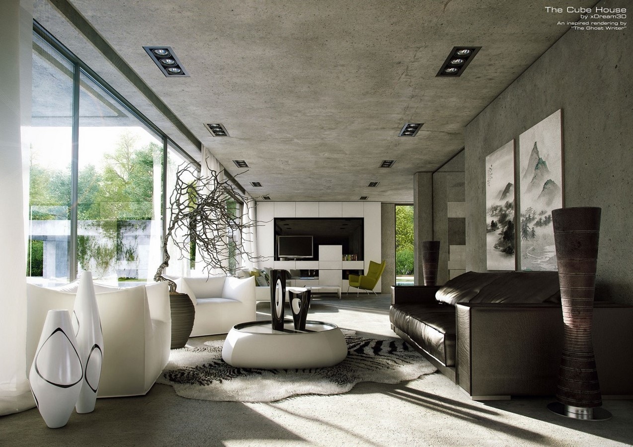 50 Living rooms enhanced by concrete - Sheet22