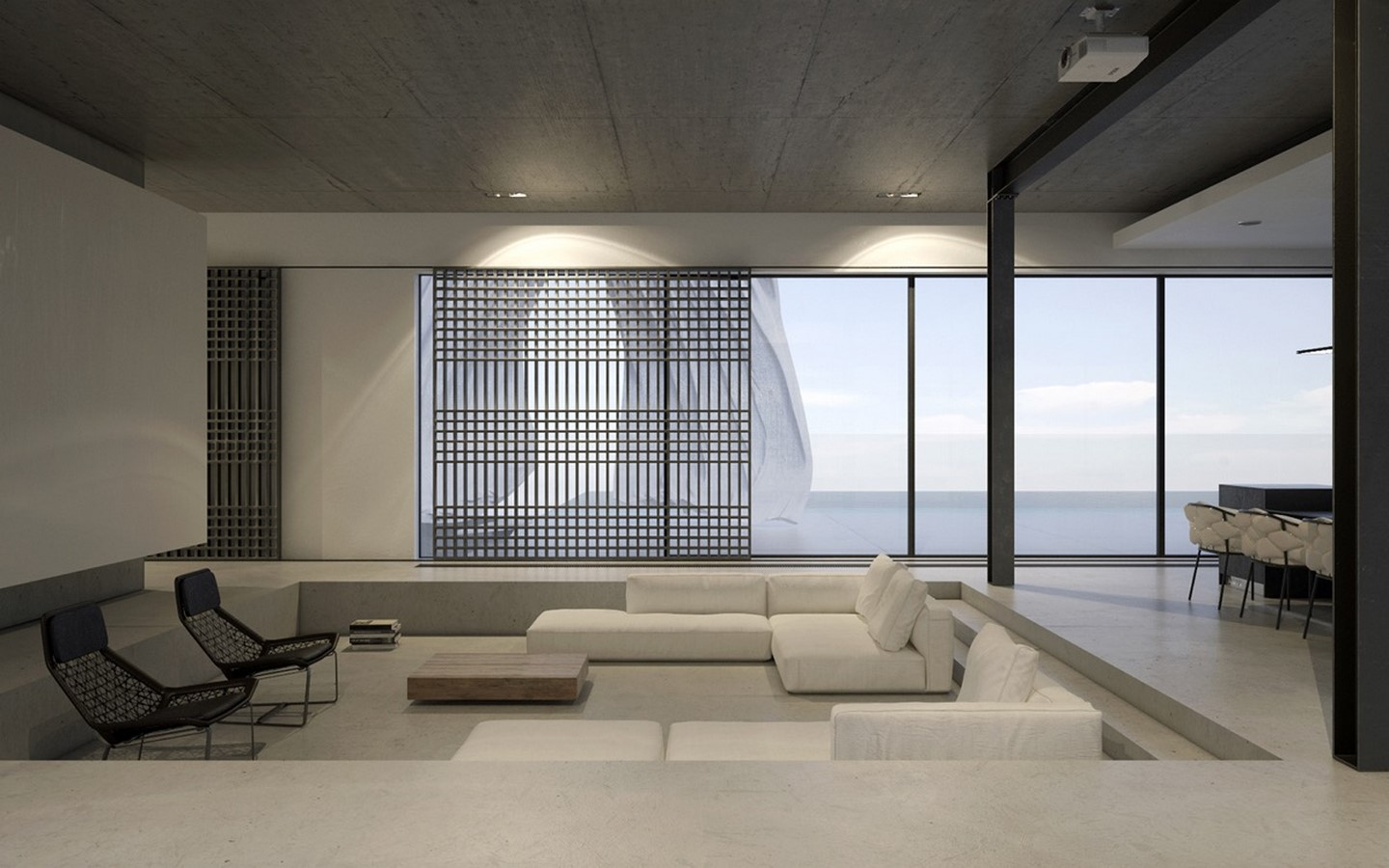 50 Living rooms enhanced by concrete - Sheet26