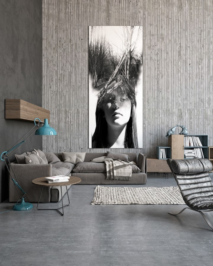 50 Living rooms enhanced by concrete - Sheet27