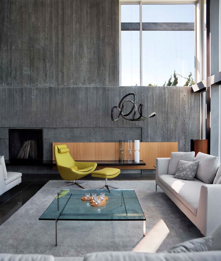 50 Living rooms enhanced by concrete - Sheet28