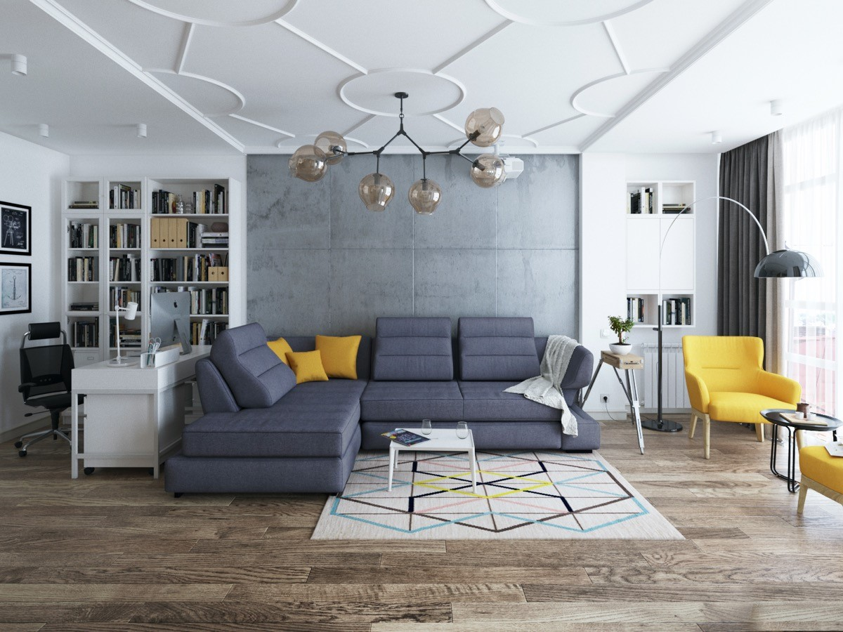 50 Living rooms enhanced by concrete - Sheet29