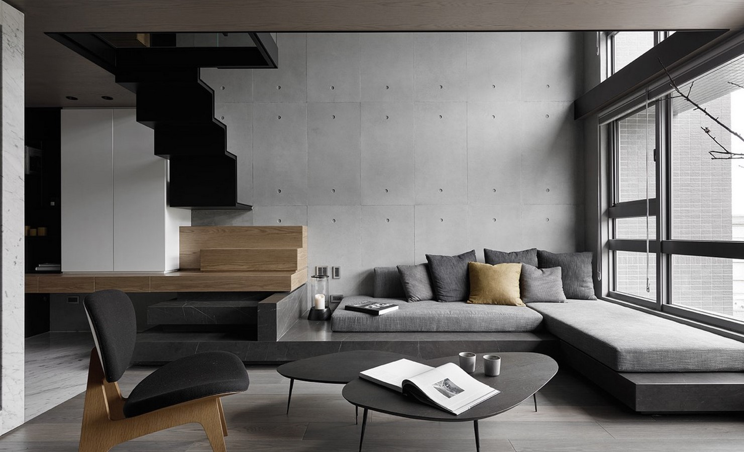 50 Living rooms enhanced by concrete - Sheet3