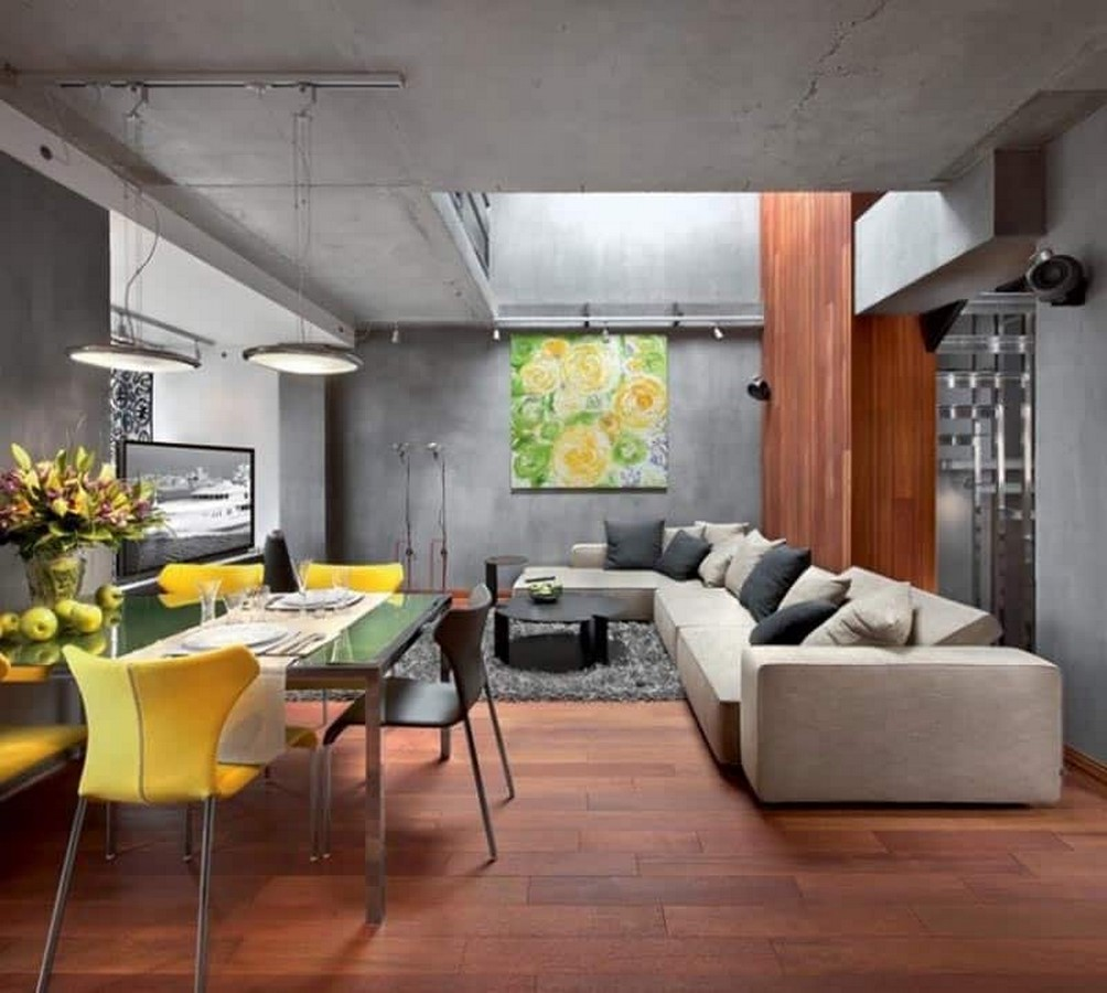 50 Living rooms enhanced by concrete - Sheet31