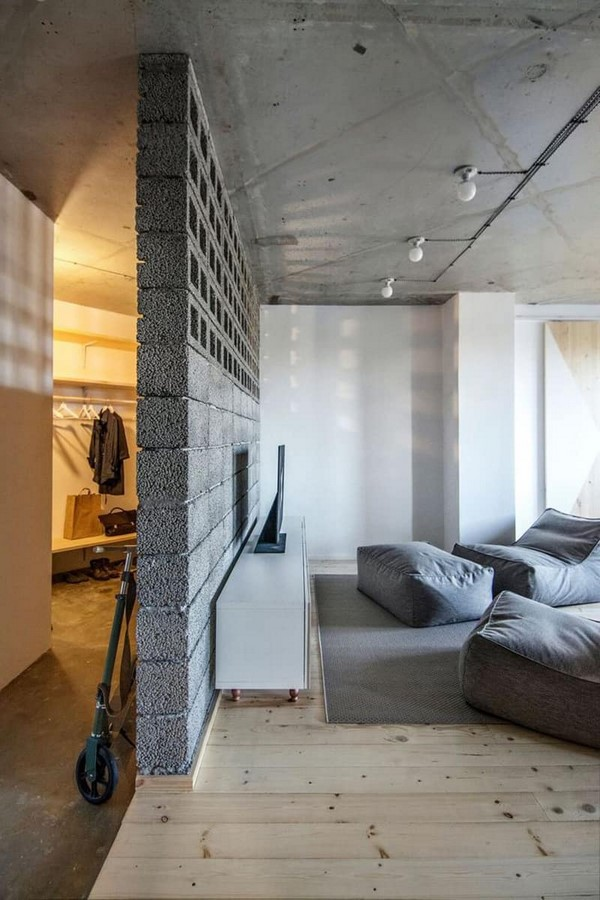 50 Living rooms enhanced by concrete - Sheet32