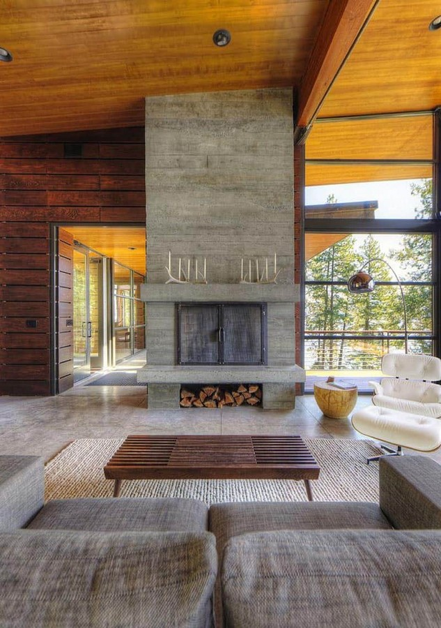 50 Living rooms enhanced by concrete - Sheet34