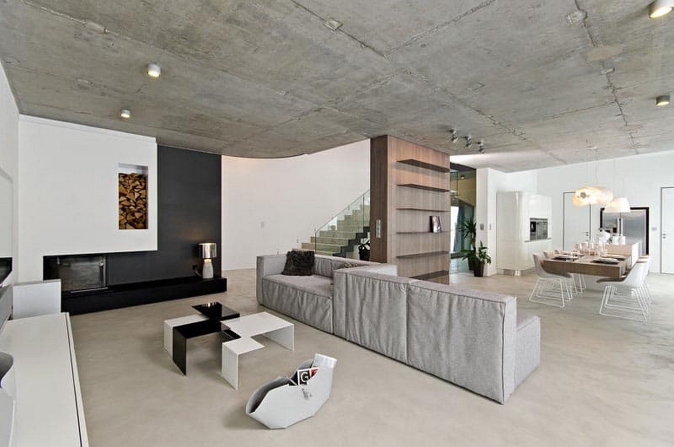 50 Living rooms enhanced by concrete - Sheet35