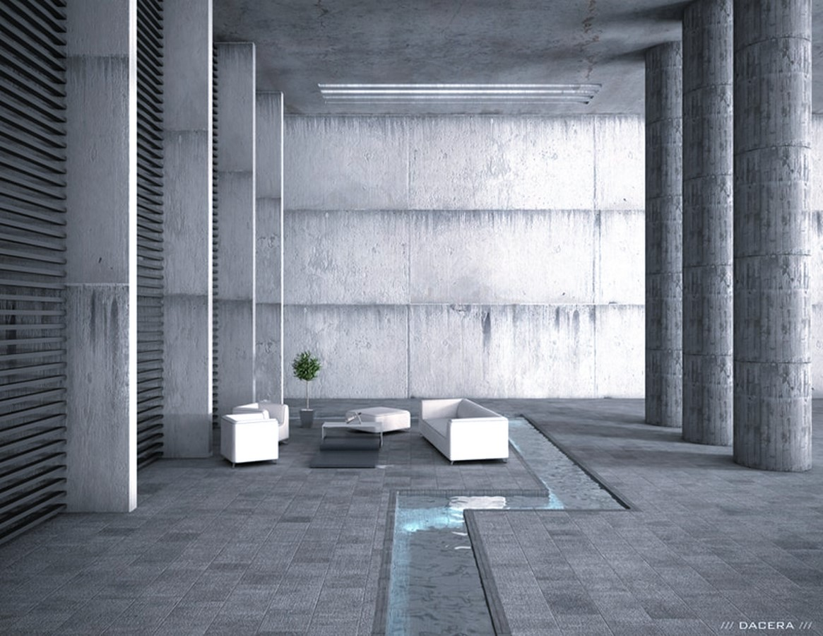 50 Living rooms enhanced by concrete - Sheet38