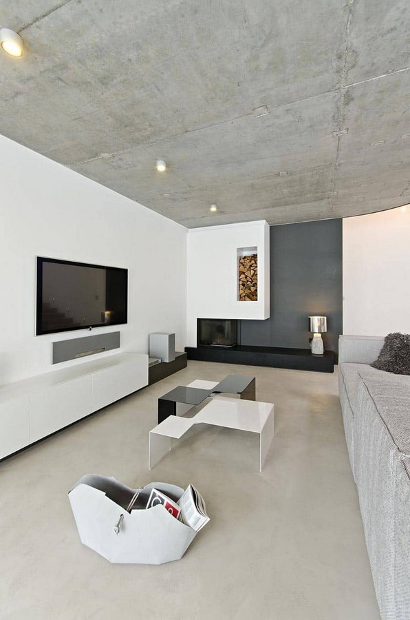 50 Living rooms enhanced by concrete - Sheet39