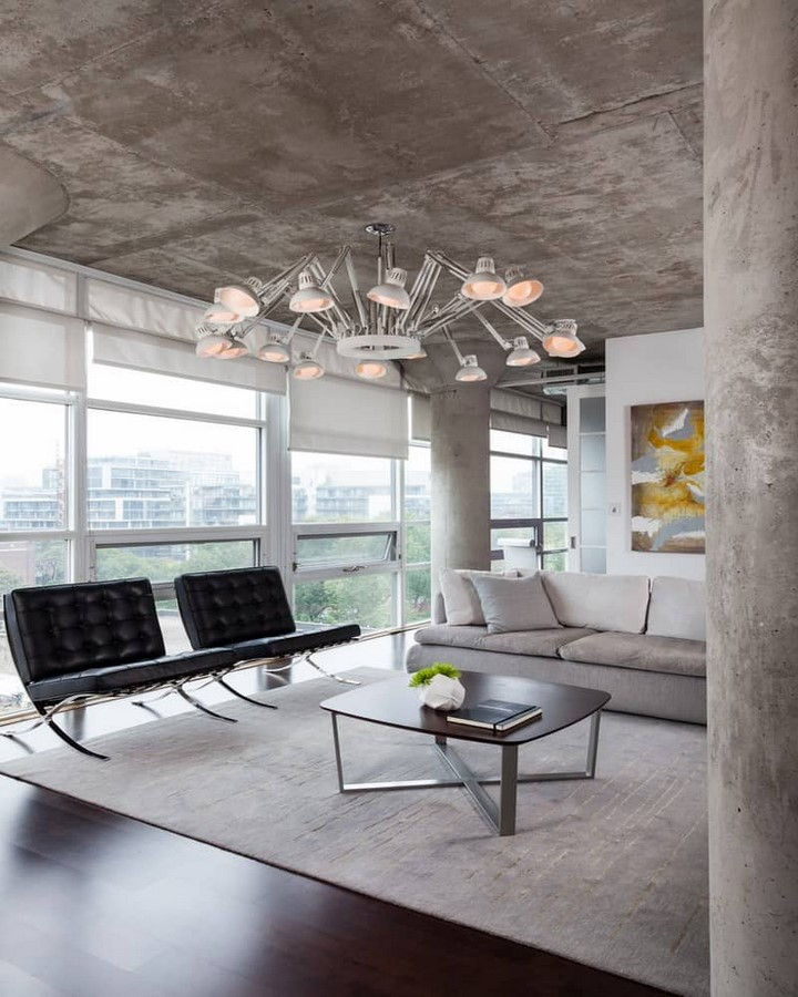 50 Living rooms enhanced by concrete - Sheet40