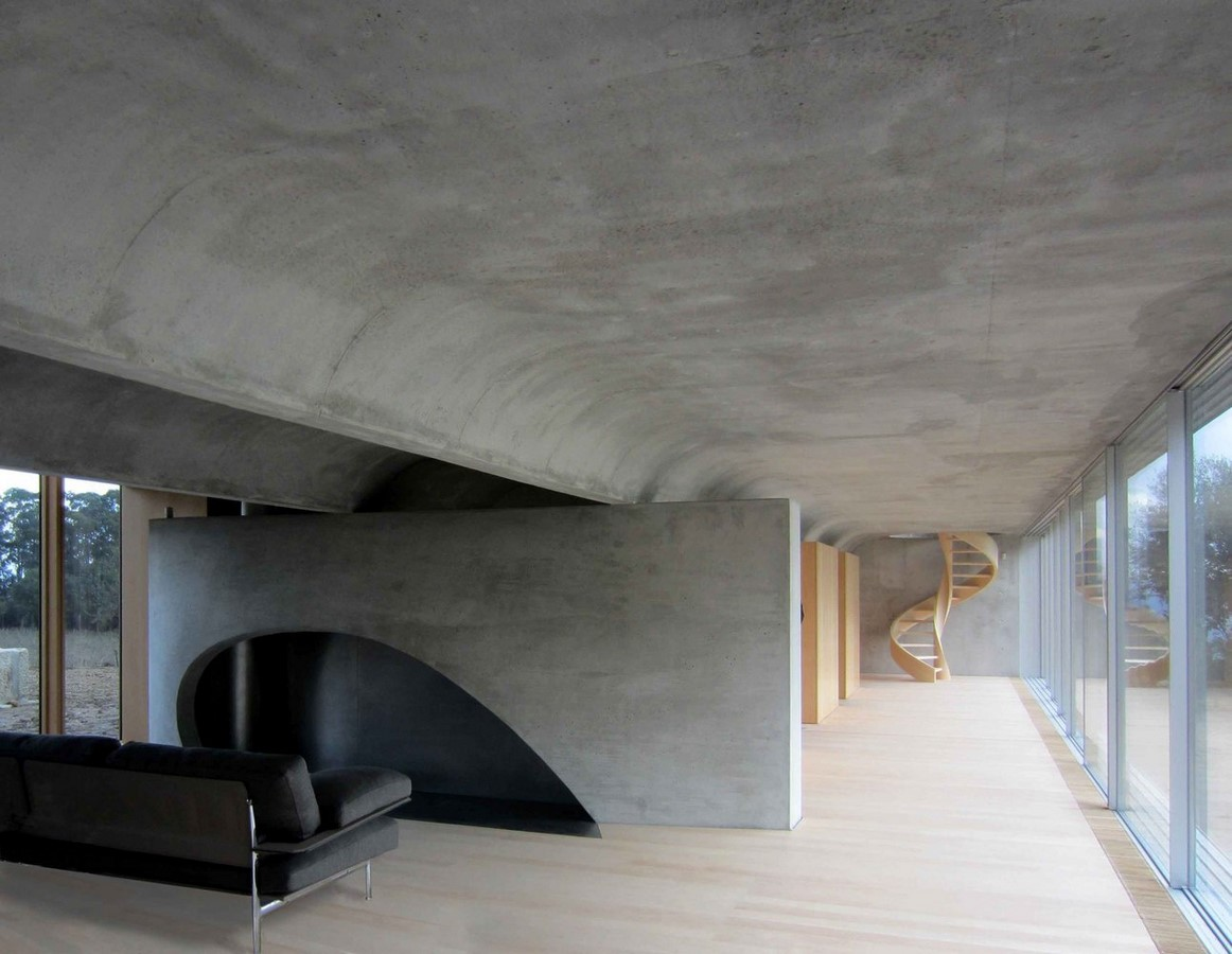 50 Living rooms enhanced by concrete - Sheet41