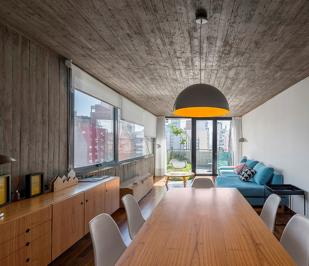 50 Living rooms enhanced by concrete - Sheet44