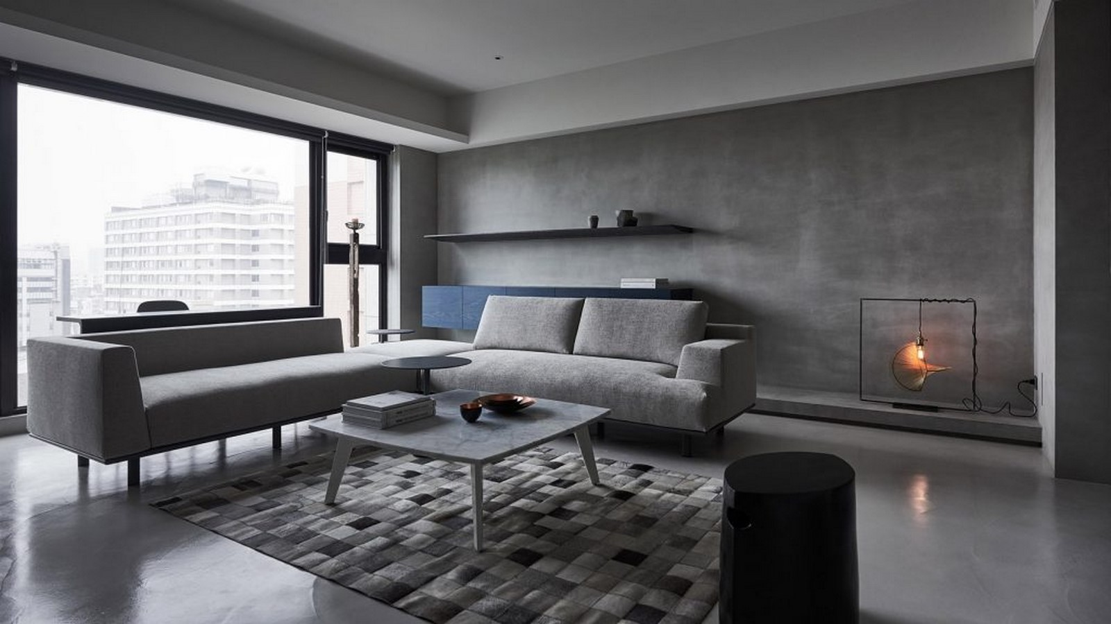 50 Living rooms enhanced by concrete - Sheet47