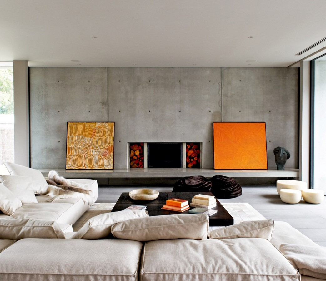 50 Living rooms enhanced by concrete - Sheet5