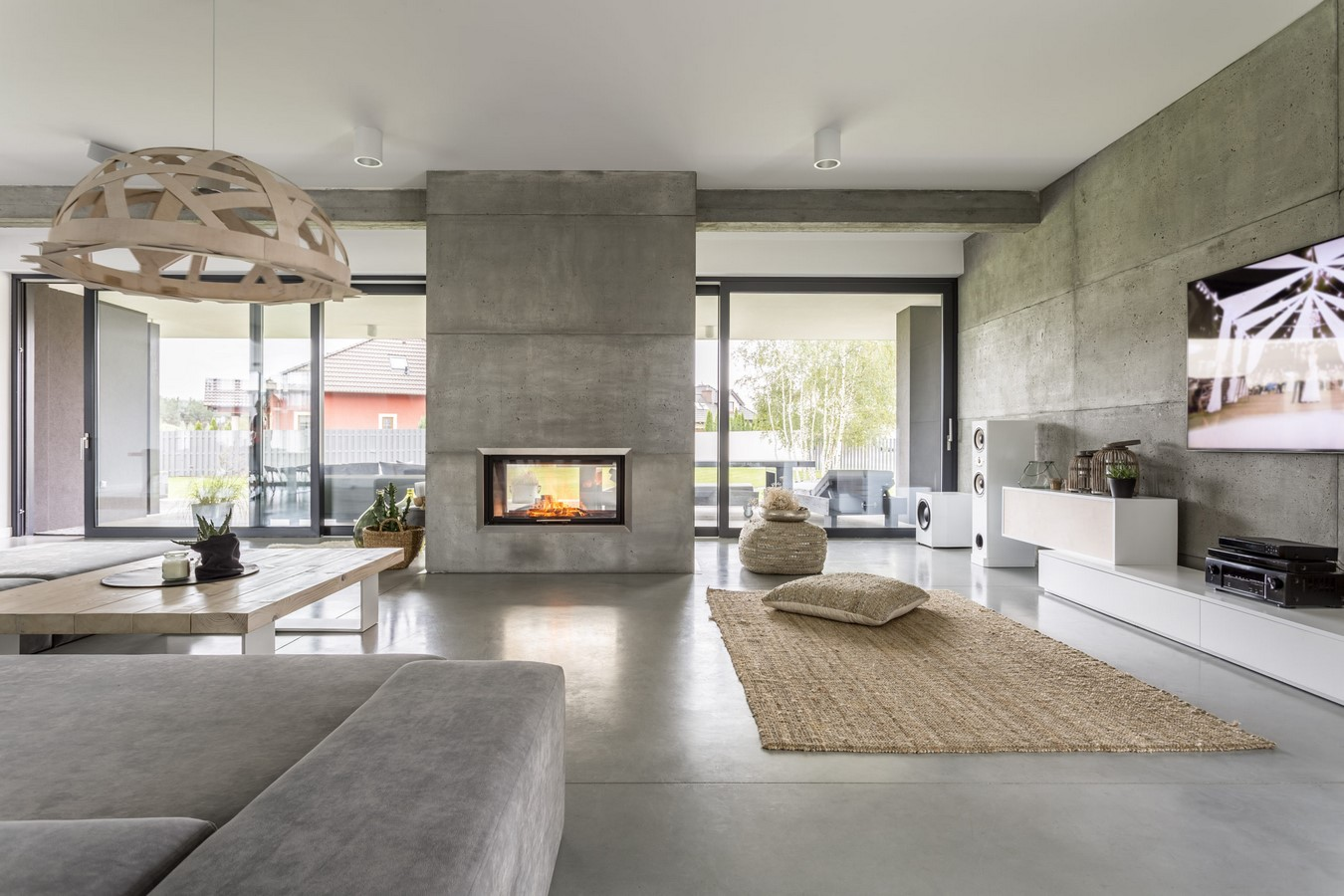 50 Living rooms enhanced by concrete - Sheet50
