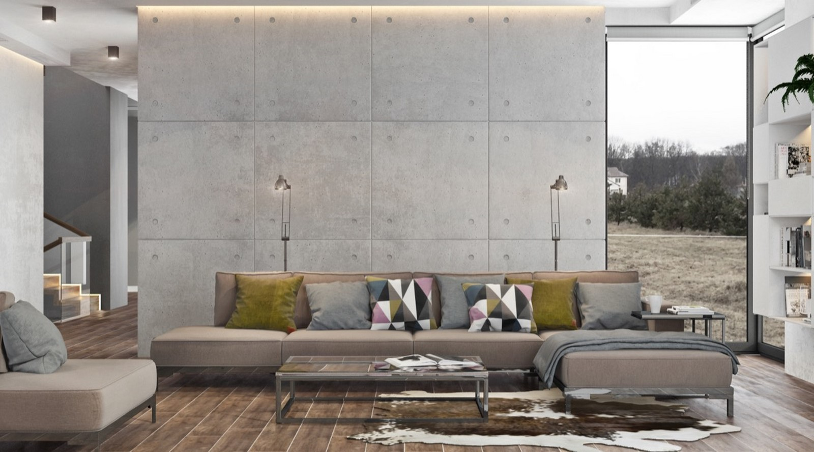 50 Living rooms enhanced by concrete - Sheet6