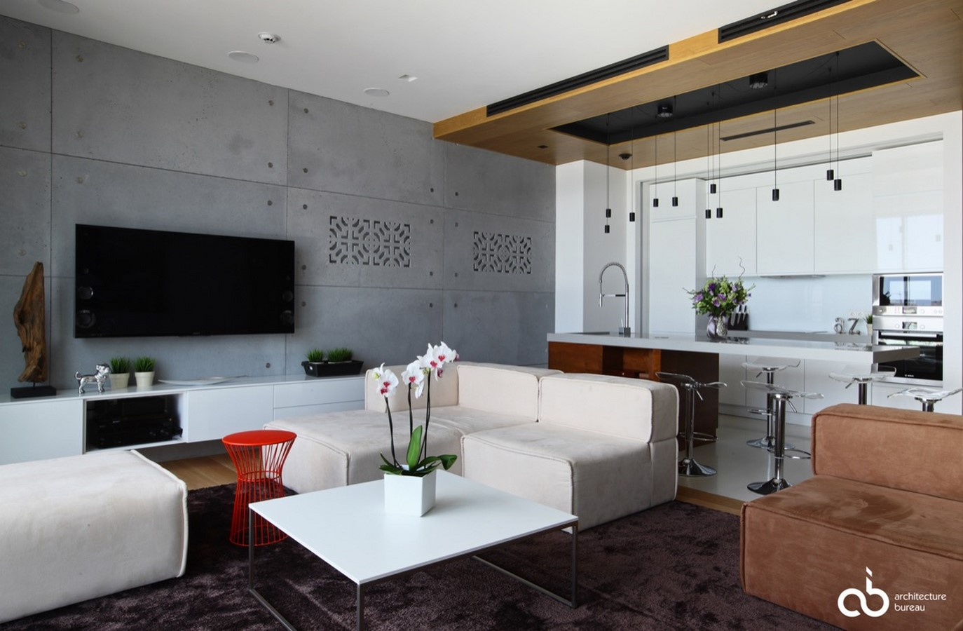 50 Living rooms enhanced by concrete - Sheet7
