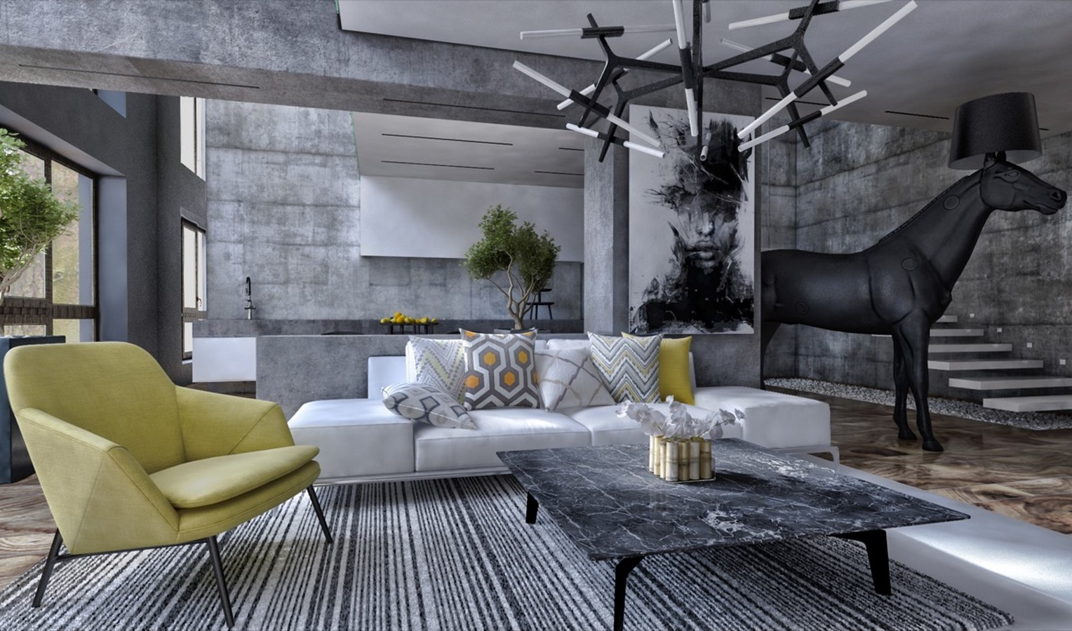 50 Living rooms enhanced by concrete - Sheet8
