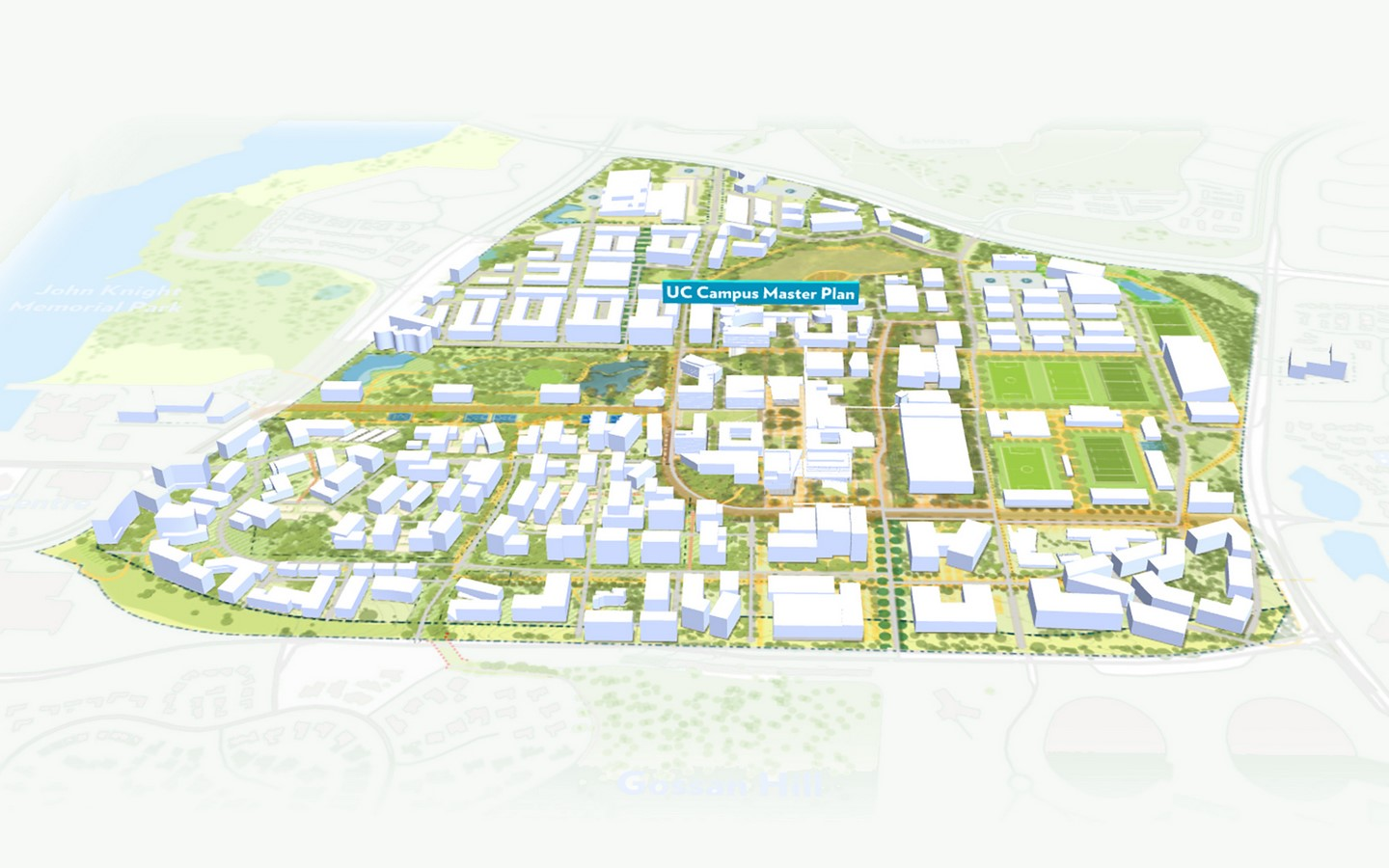 Campus Masterplan costing $5 Billion designed for the Transformation of University of Canberra by MGS and Turf Design - Sheet1