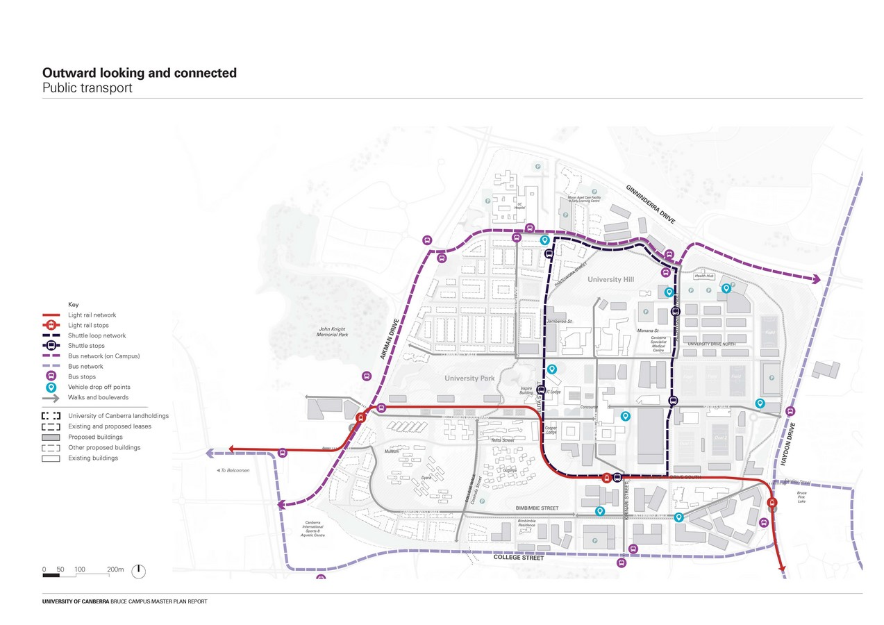 Campus Masterplan costing $5 Billion designed for the Transformation of University of Canberra by MGS and Turf Design - Sheet5