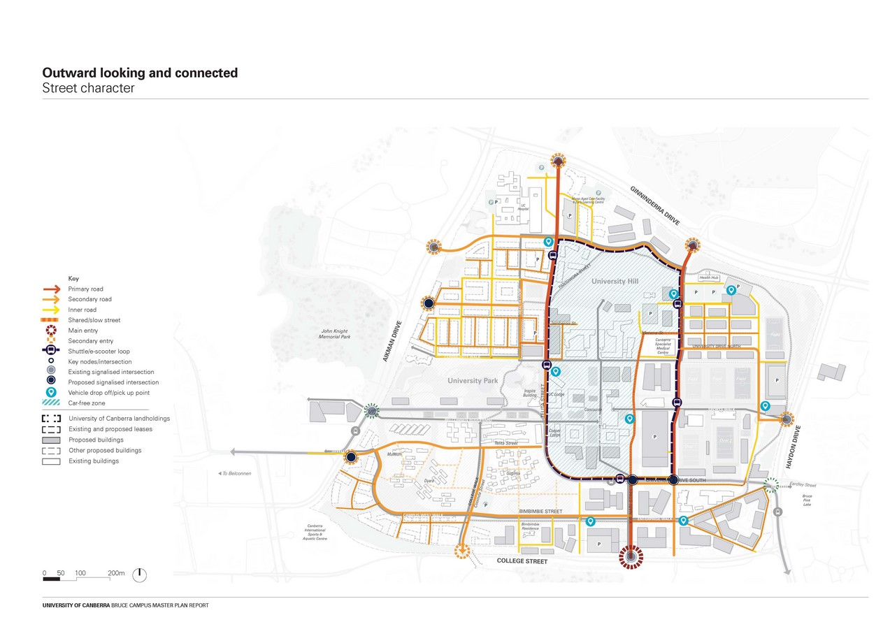 Campus Masterplan costing $5 Billion designed for the Transformation of University of Canberra by MGS and Turf Design - Sheet7