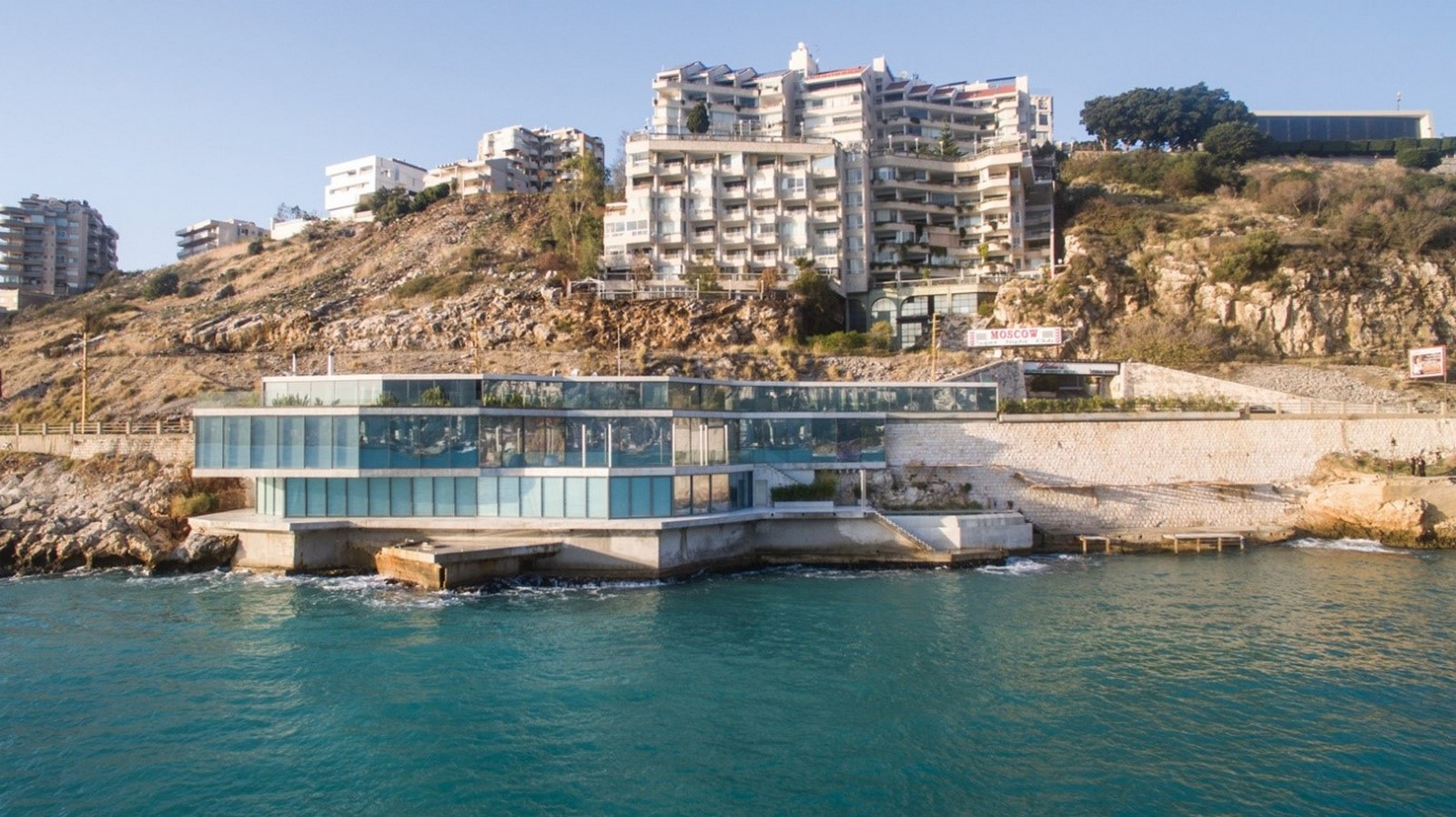 Sculpted House Hovering Over the Mediterranean by SOMA:Floating Houses - Sheet1
