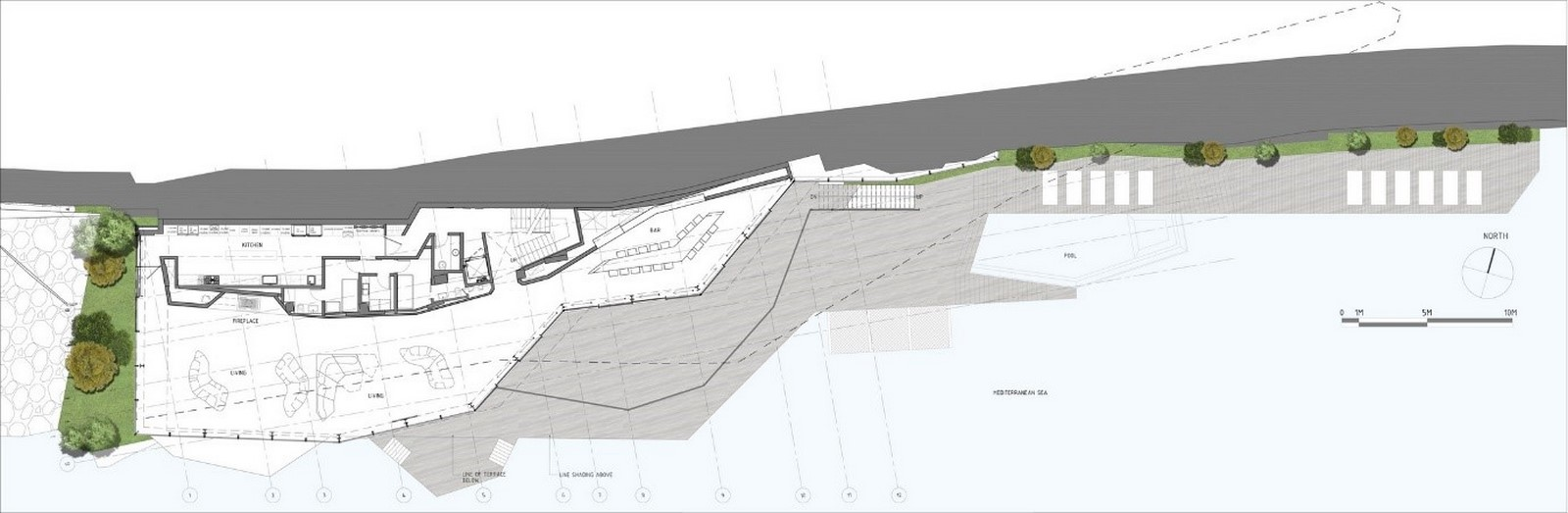 Sculpted House Hovering Over the Mediterranean by SOMA:Floating Houses - Sheet6