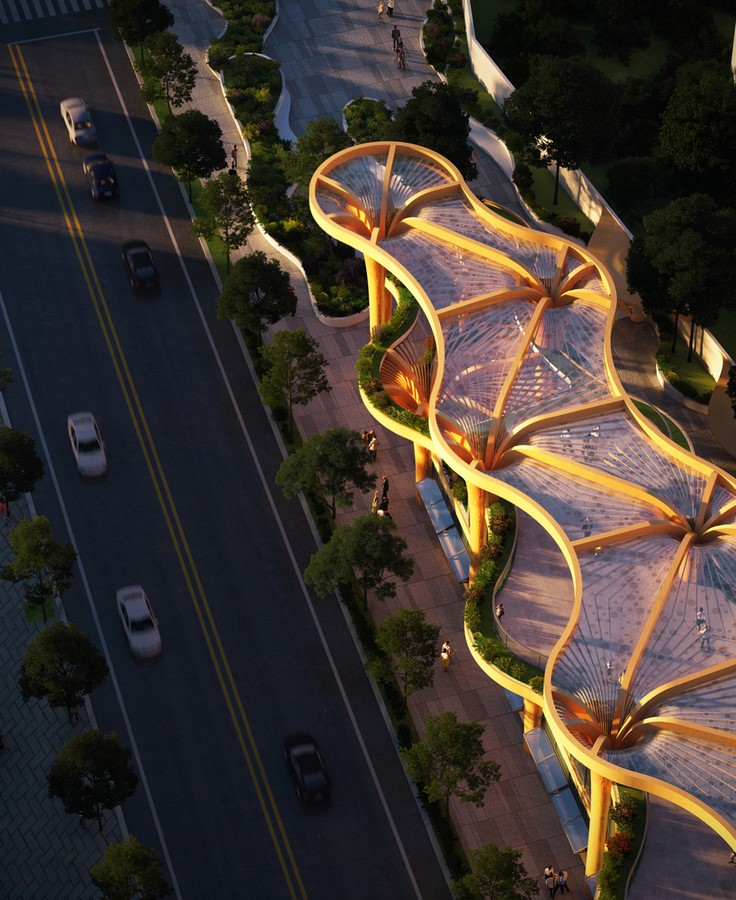 Biophilic Marketplace Inspired by Shanghai's Forests designed by Koichi Takada Architects - Sheet2