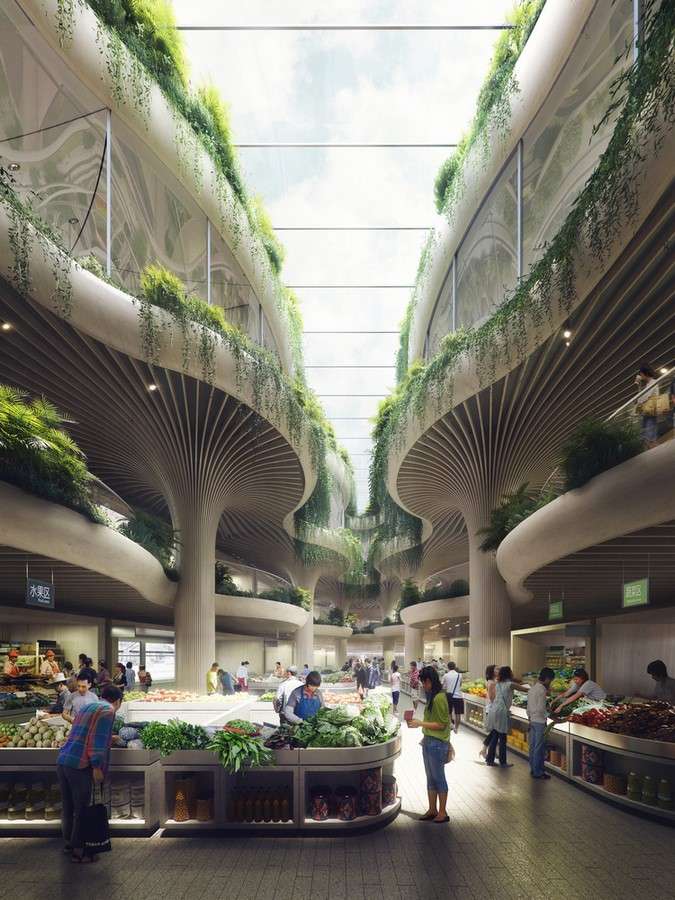 Biophilic Marketplace Inspired by Shanghai's Forests designed by Koichi Takada Architects - Sheet3