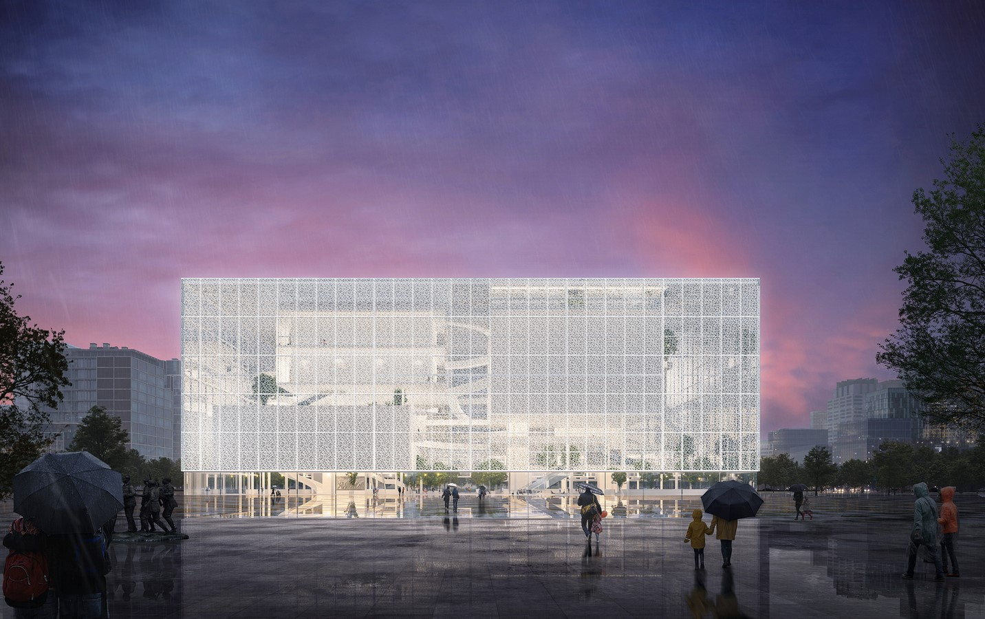 Shenzhen exhibition complex with transparent facade designed by Sou Fujimoto - Sheet1