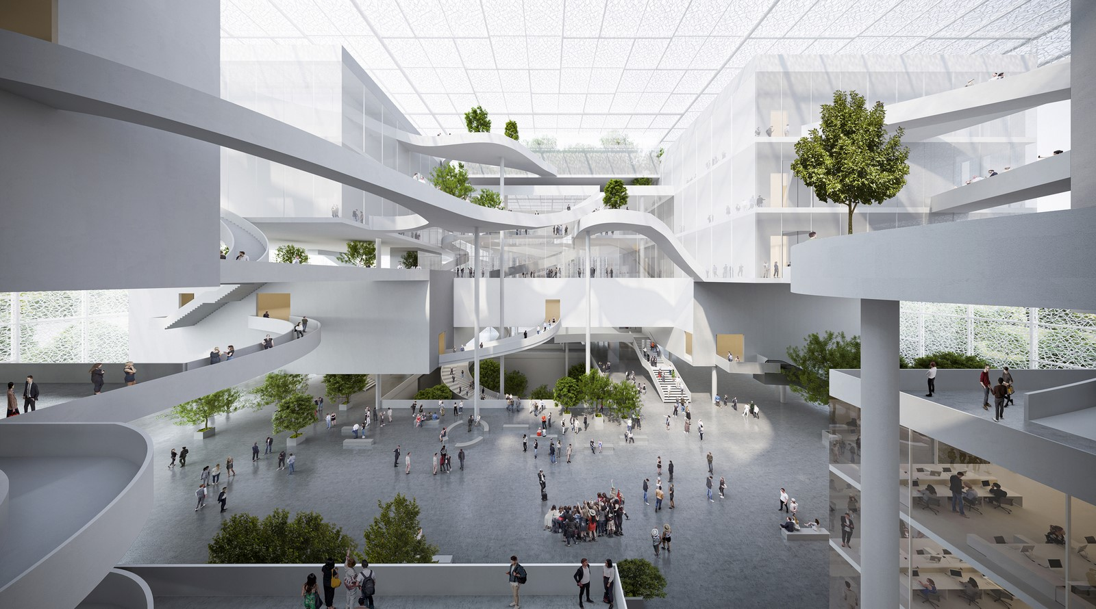Shenzhen exhibition complex with transparent facade designed by Sou Fujimoto - Sheet3