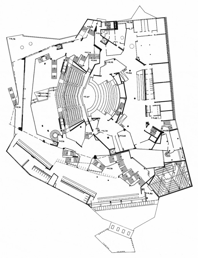 Berlin Philharmonic by Hans Scharoun: Built to replace the old Philharmonie - Sheet11
