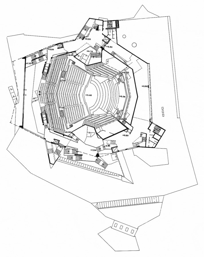 Berlin Philharmonic by Hans Scharoun: Built to replace the old Philharmonie - Sheet12