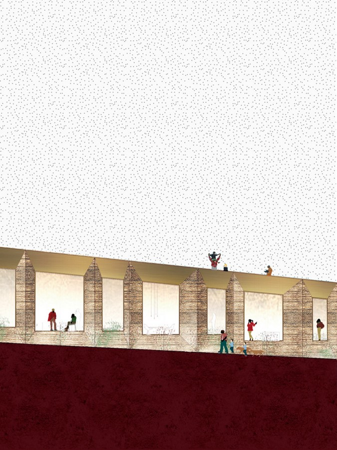 Lining Kefraya' Hotel by Lina Ghotmeh An expression of the earth - Sheet6