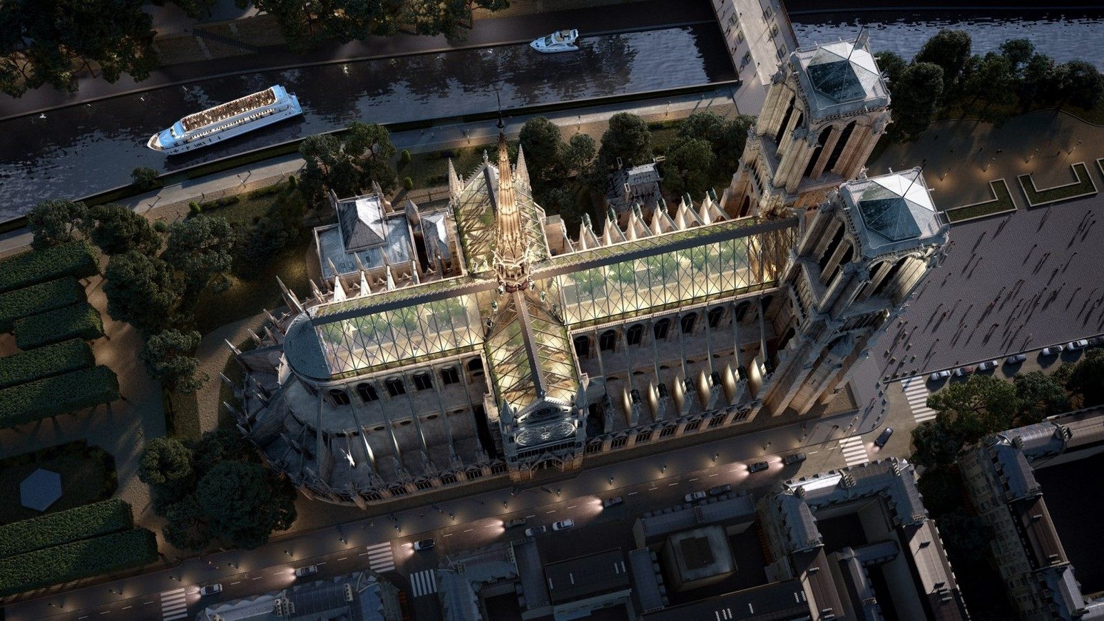 Reconstruction of Notre-Dame's spire by Miysis Studio - Sheet1