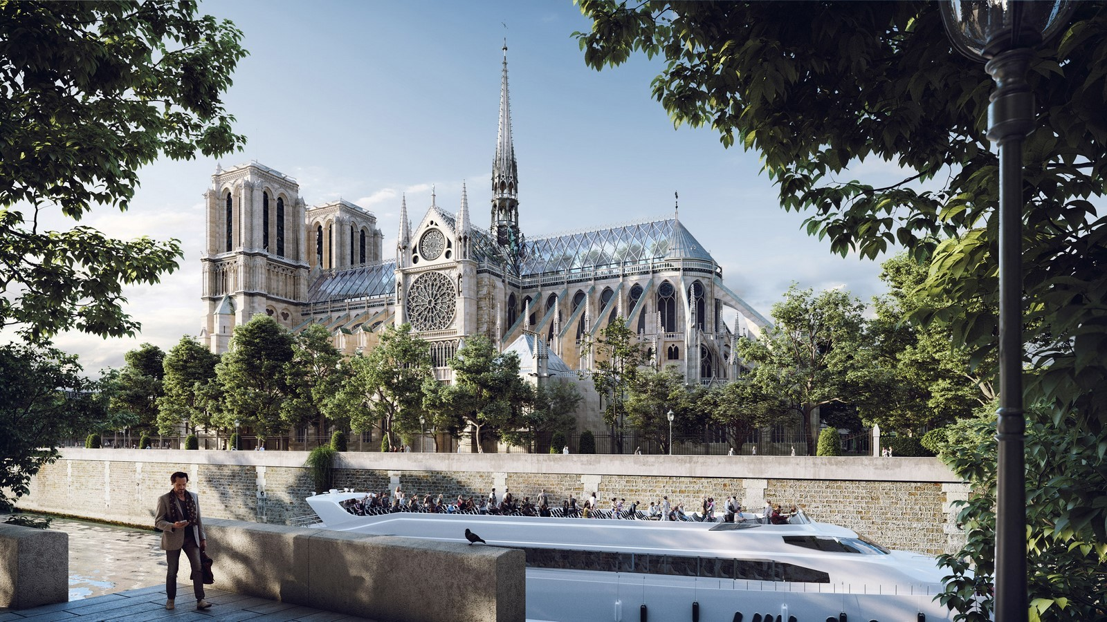 Reconstruction of Notre-Dame's spire by Miysis Studio - Sheet2