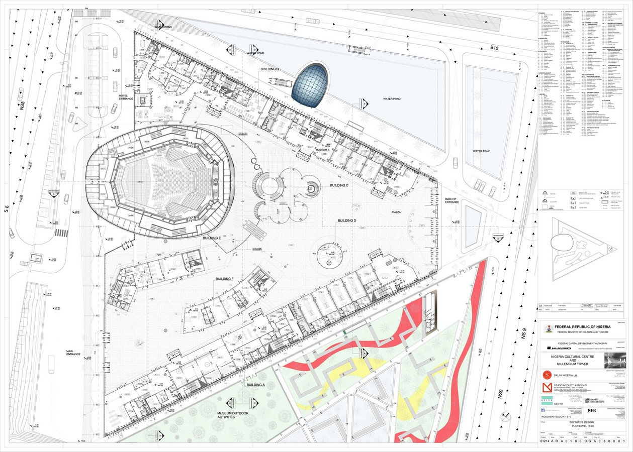 Nigerian Cultural Centre and Millenium Tower by Manfredi Nicoletti: Still Under construction - Sheet3