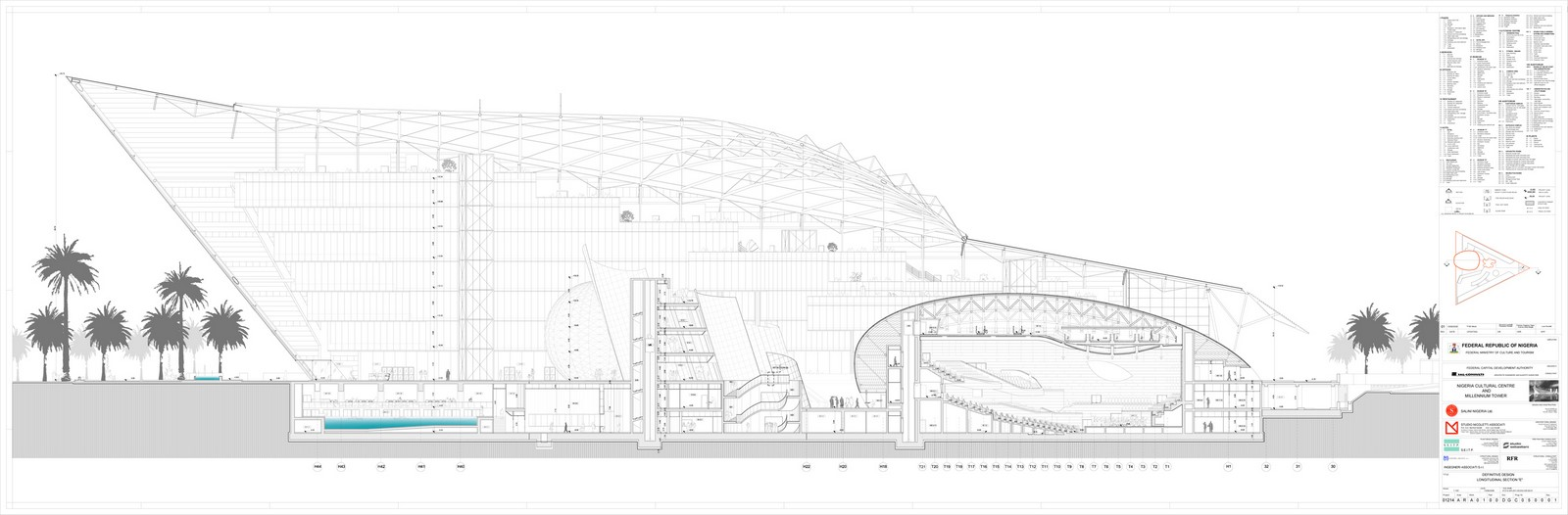 Nigerian Cultural Centre and Millenium Tower by Manfredi Nicoletti: Still Under construction - Sheet4