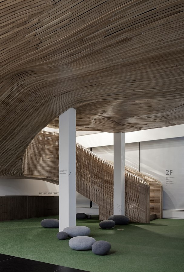 Elephant-Parade Office by CUN Design: Constructed with Bamboo - Sheet10