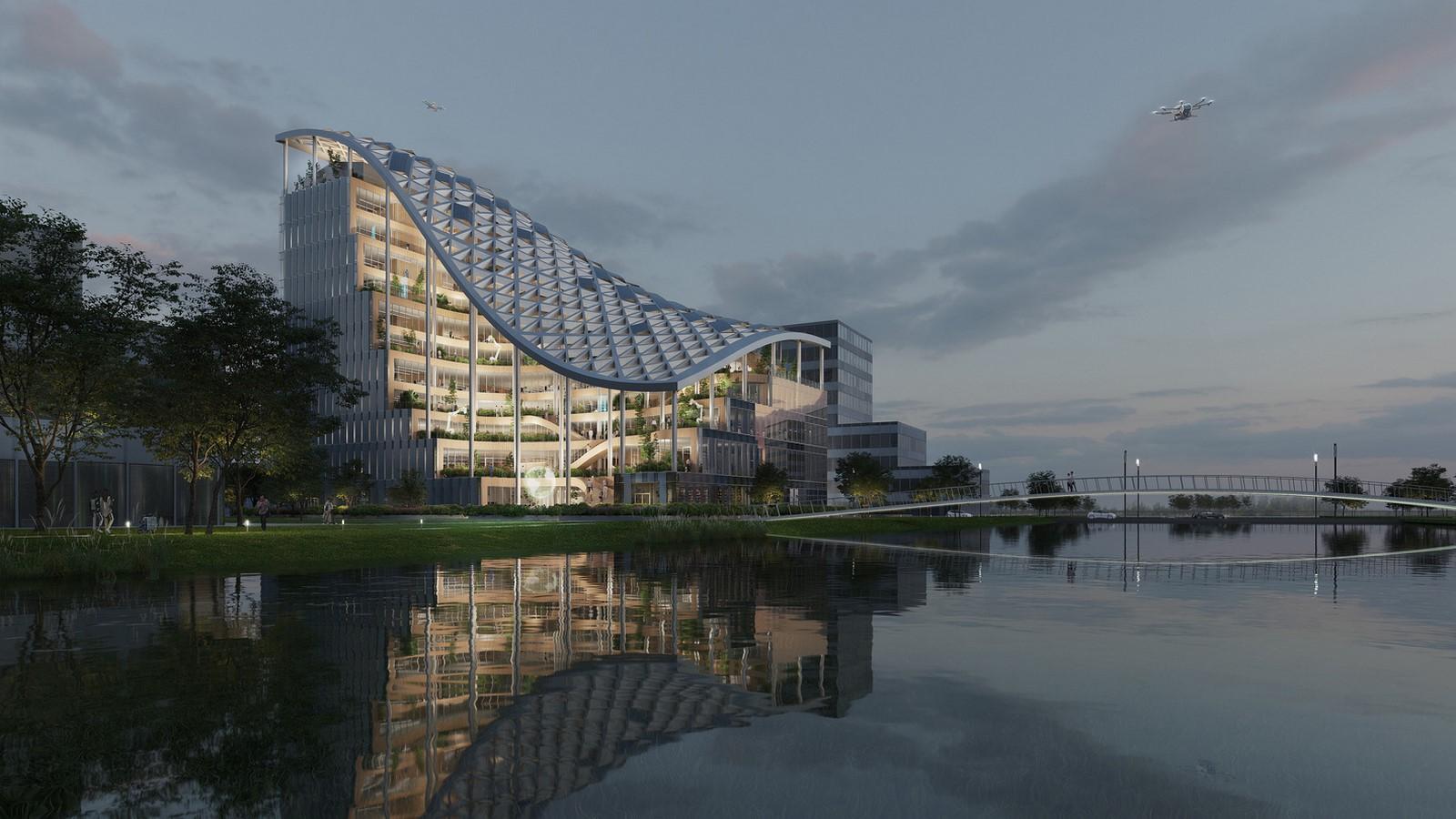 Design for Terraced Office Building in Shanghai revealed by MVRDV - Sheet1