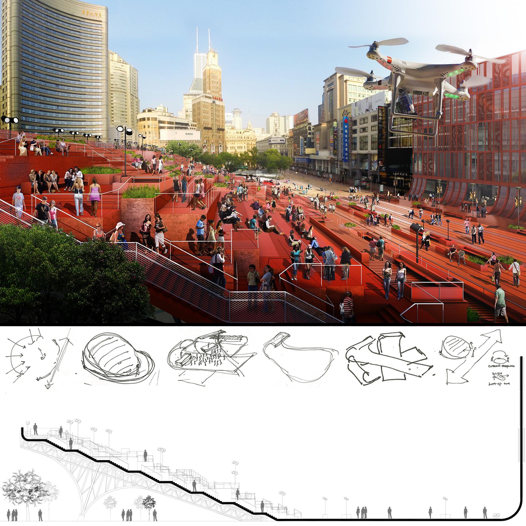 Red Carpet. Shanghai, China, 100 Architects - Sheet3