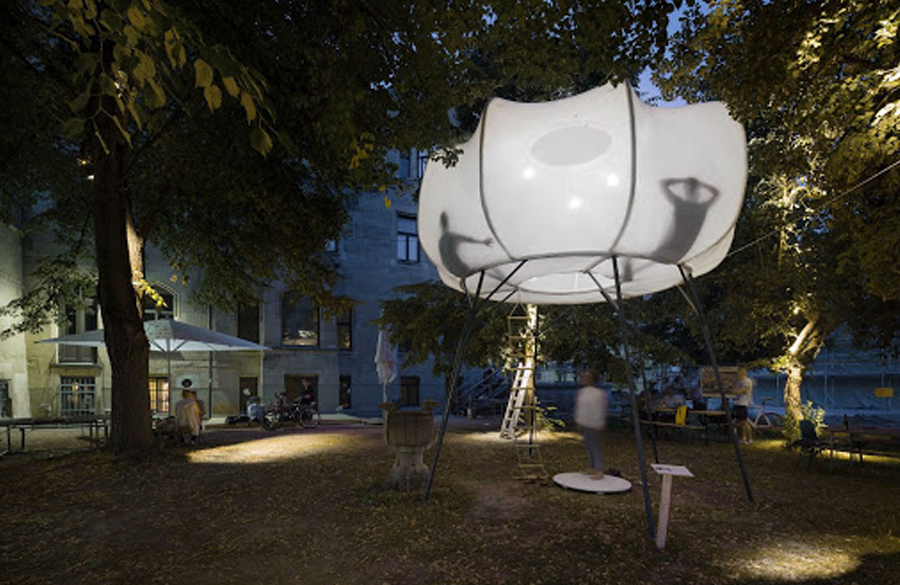 Cumulus, Inspired by the clouds, this art installation created by Clap Studio